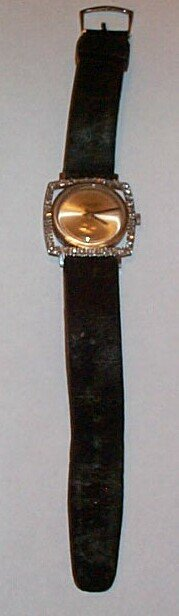 7: 18K white gold Jules Jergenson men's wrist watch con