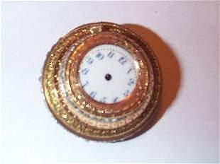 18K and rose diamond pendant/watch, back of watch i