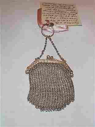 Gorham sterling silver mesh change purse, 1 oz.
