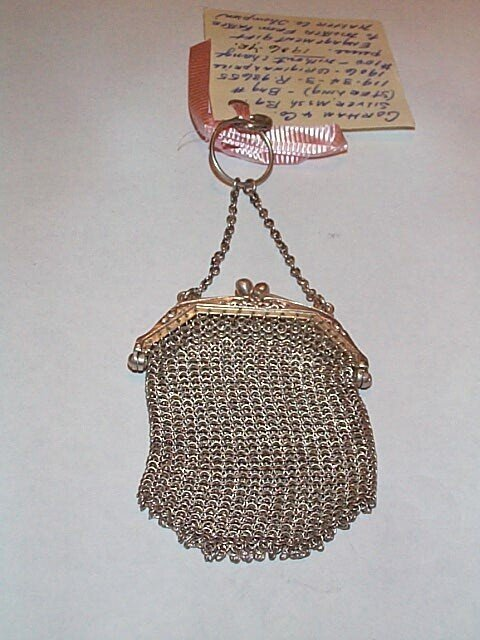 16: Gorham sterling silver mesh change purse, 1 oz.