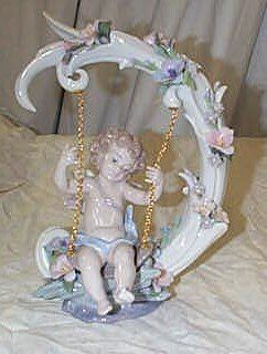 """Lladro number 1739 """"Heavenly Swing"""" Limited Editio"""