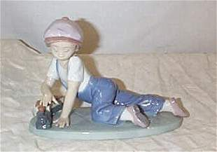"""Lladro number 7619 """"All Aboard""""1992 Society piece,"""