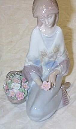 """Lladro number 7607 """"Flower Song""""1988 Society piece"""