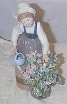 "Lladro number 1354 ""Girl Watering"", retired"