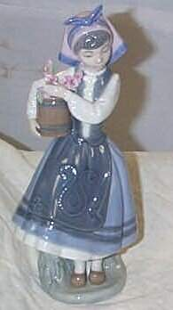 """Lladro number 1416 """"From my Garden"""", retired w/box"""