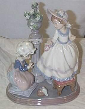 """Lladro number 5344 """"Stitch in Time"""", retired w/box"""