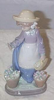 """Lladro number 5543 """"Hello Flowers"""", retired w/box"""