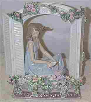 """Lladro number 7693 """"Thinking of Love"""", w/box"""