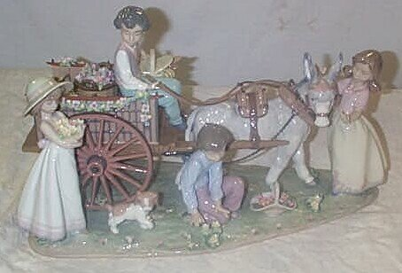 """568: Lladro number 1797 """"Enchanted Outing"""", damage in w"""