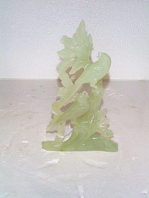504: Hank carved Jade figurine depicting birds and flow