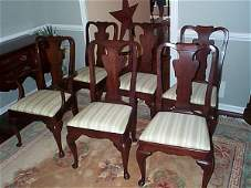 109: set of (6) signed Statton furniture cherry mahogan
