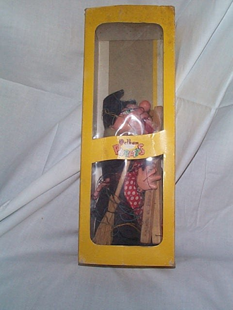 507: Pelham made in England carved wood Marionette Pupp