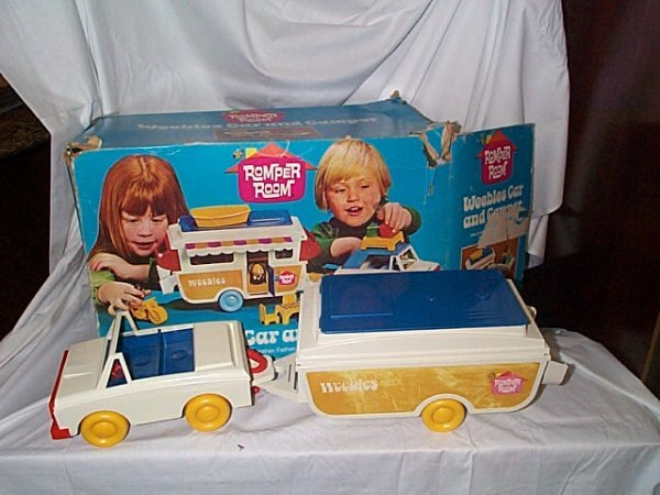 539: Hasbro Romper Room Weebles Car and Camper, appears
