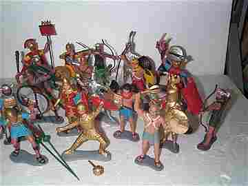 601: Lot of 20 6in. Louis Marx & Company plastic toy so