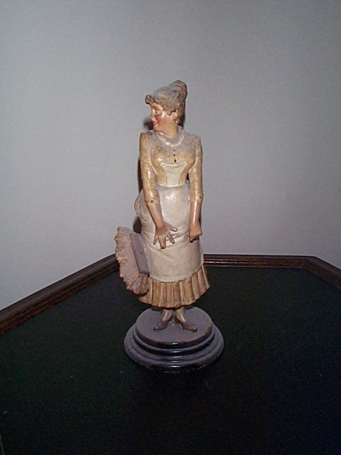 815: 19th.C Signed DEP bisque figurine depicting a woma