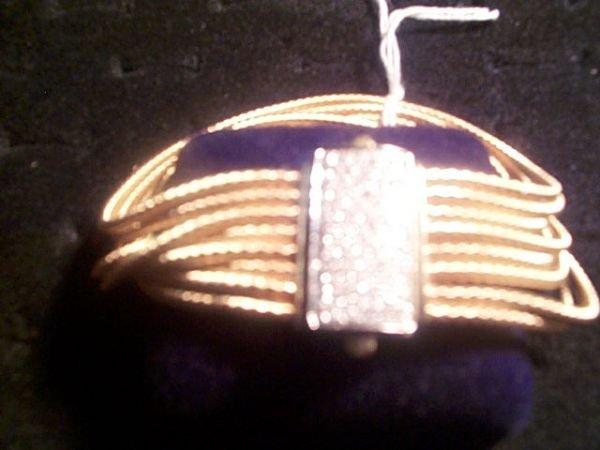 233: 14kyg Diamond Clasp bracelet 77D= 1.50 Ct 38.7 gms