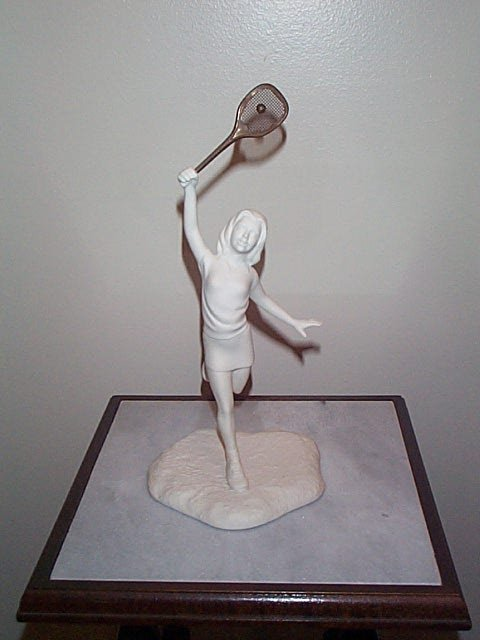2: Signed Boehm figurine, Young Tennis Player, Measures