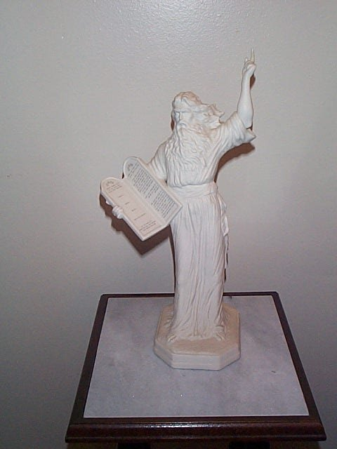 """13: Boehm Figurine, Moses, marked BW51, Measures 15"""" Ta"""