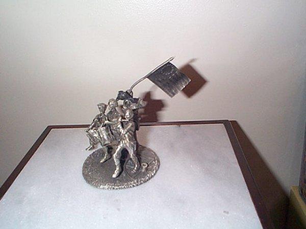 215: Hudson Pewter, The Spirit of 1776 figurine, measur