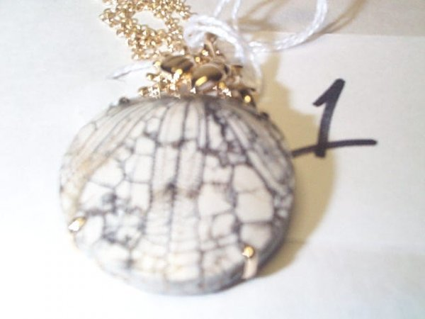 5A: 14K FOSSIL PENDANT ON ROPE CHAIN 13.9 G. Buyer to p
