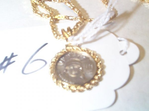 10C: 14K & PLANTIUM NECKLACE 20.1 G. Buyer to pay $10.0