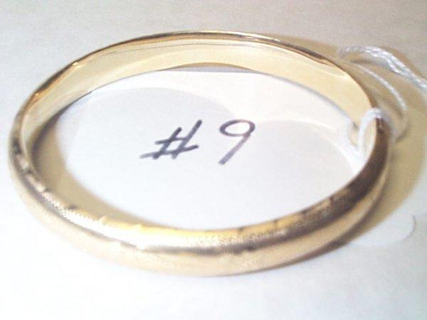 15C: 14K YG GARNET BANGLE BRACLET 10.5 GRAMS Buyer to p