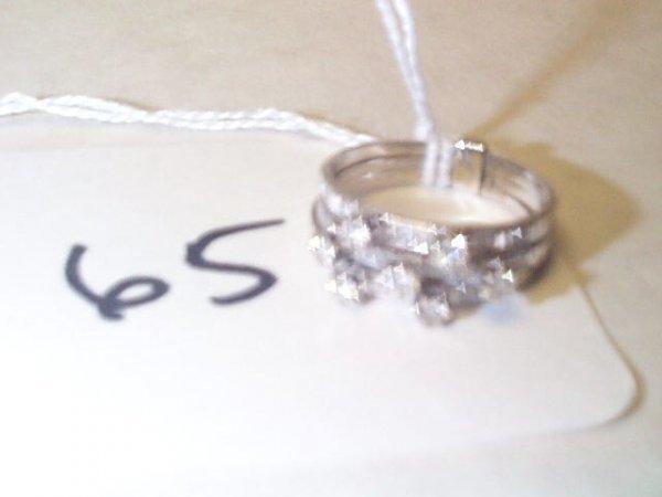 110B: 14K WG DIAMOND RING 21 DIAMONDS = 0.75 CT    5.1G