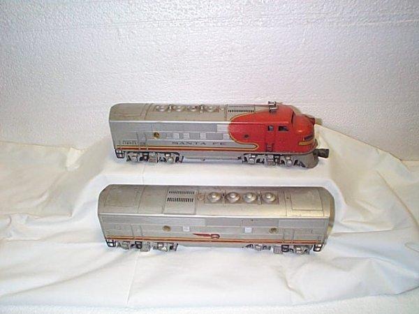 "500: Lionel O27 gauge engine #2353 Santa Fe with ""B"" un"