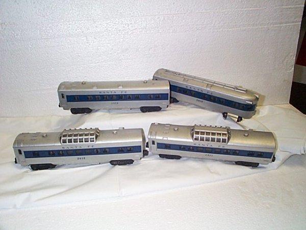 504: Lot of 4 Lionel O27 gauge passenger cars, includin