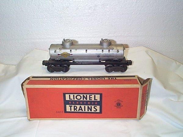 509: Lionel O27 gauge #6465 Sunoco Tank Car w/box.  In