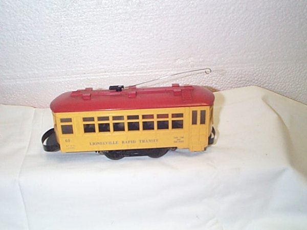513: Lionel O27 gauge Lionelville rapid transit trolley