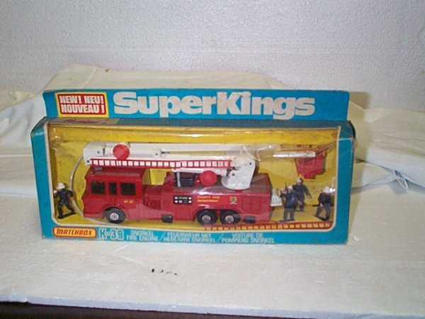 520: Matchbox Super Kings K-39 snorkel fire engine.  Mi