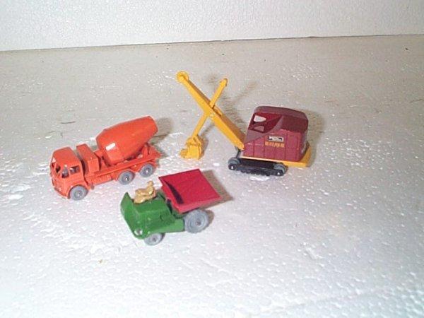 508: Lot of 3 vintage Matchbox trucks including #2 dump