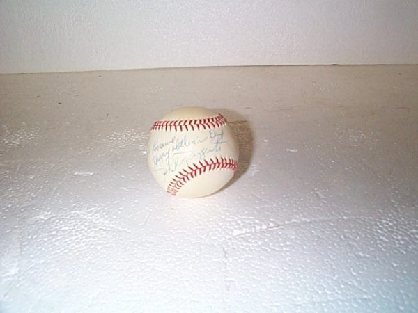 518: Signed Phil Rizzuto baseball.  Buyer to pay $15.00