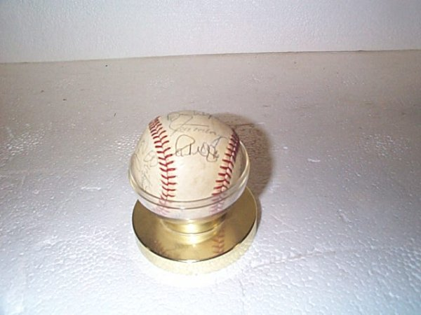 522: Baseball - signed game ball.  Includes signatures