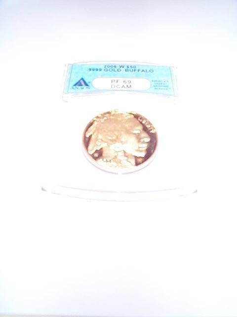 824: US gold coin, 2006-W .9999 gold Buffalo $50.00 gol