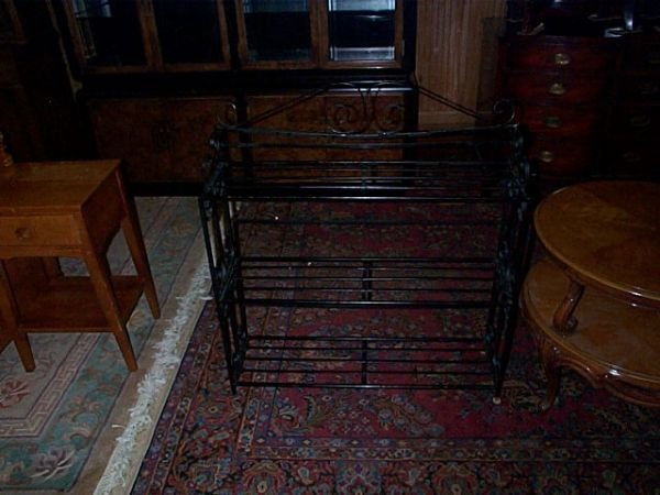 682: Iron plant stand.  Local delivery available within