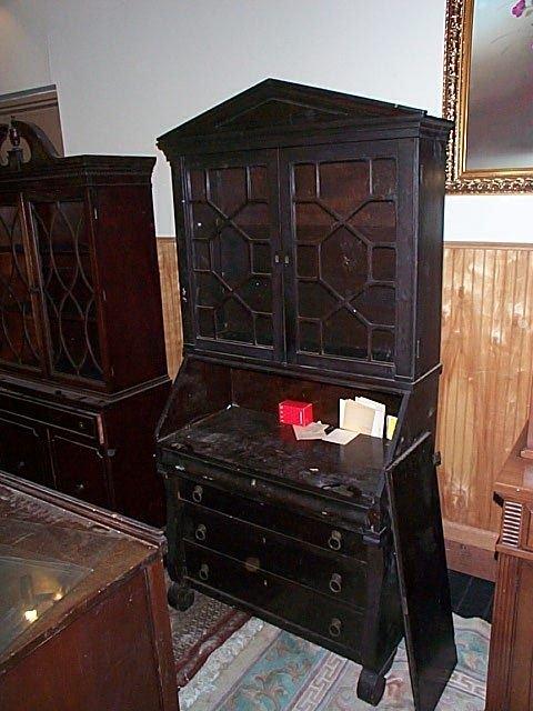 688: Empire bookcase/secretary.  Local delivery availab