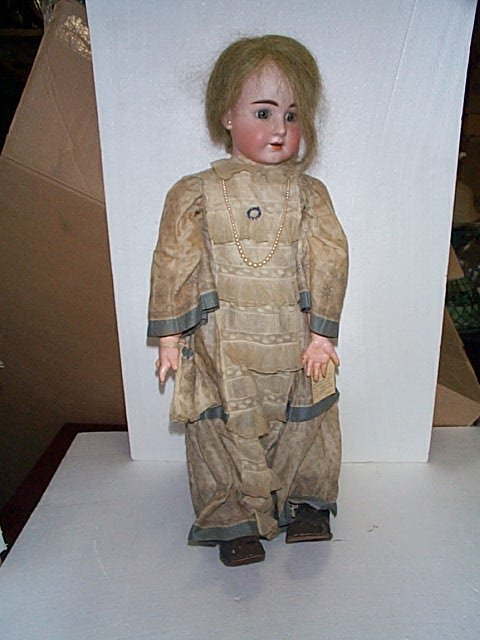 "602: 19th. C Bisque head doll.  Marked ""Made in Germany"
