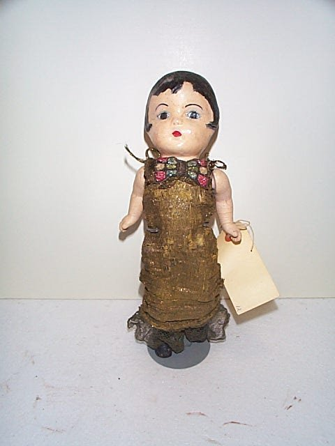 "608: 12"" composition USA doll in a real nice roaring 20"
