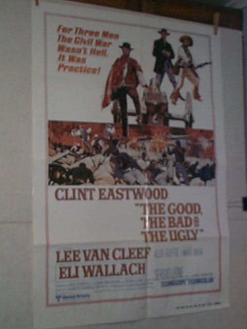 "1: Original movie poster. ""THE GOOD, THE BAD, AND THE U"