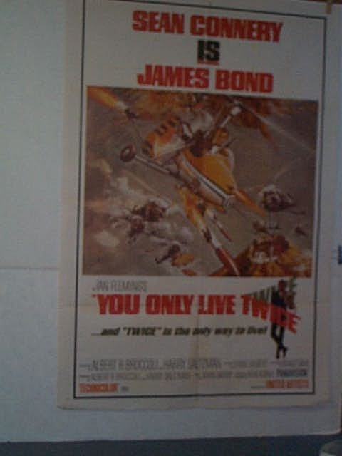 "3: Original movie poster. ""JAMES BOND: YOU ONLY LIVE TW"