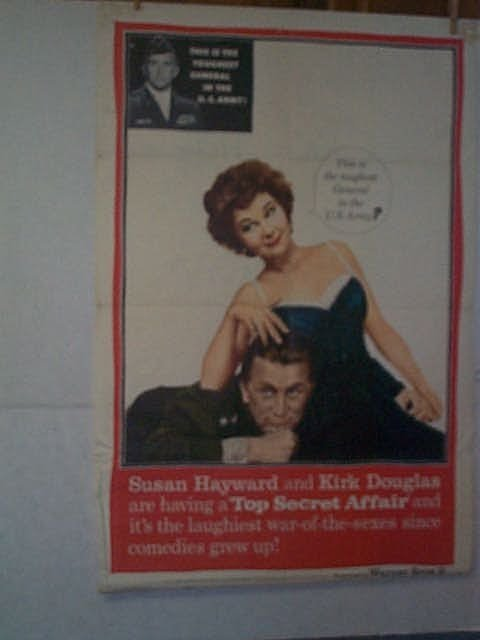 "4: Original movie poster. ""TOP SECRET AFFAIR."" Marked l"