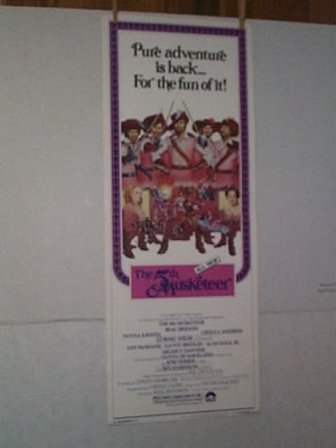 "9: Original movie poster. "" THE FIFTH MUSKETEER."" Inser"