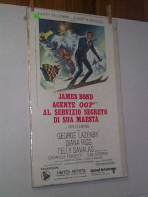 "11: Original movie poster. JAMES BOND IN: ""AGENTE 007,"