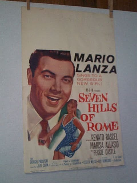 "12: Original movie poster. MARIO LANZA, ""SEVEN HILLS OF"