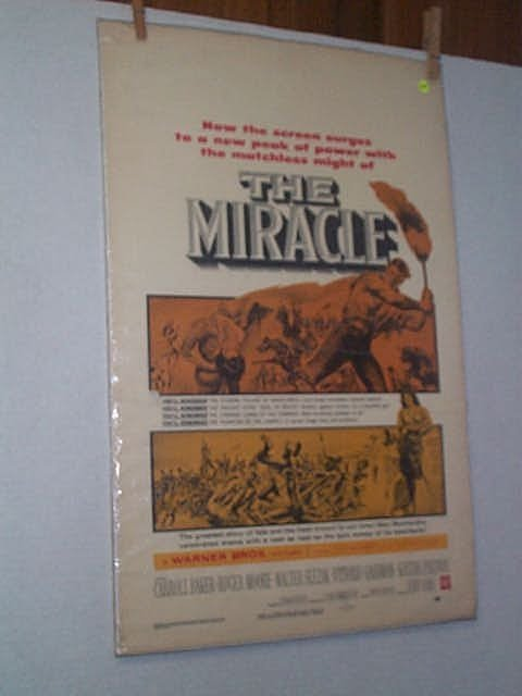 "13: Original movie poster. ""THE MIRACLE."" ROGER MOORE."