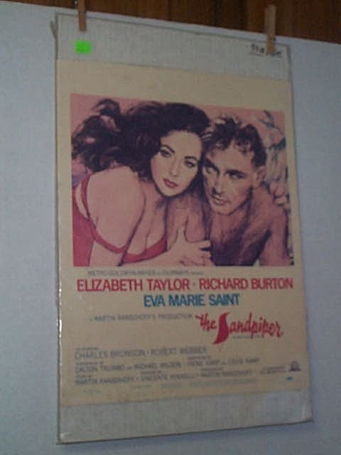 18: Original movie poster. ELIZABETH TAYLOR, RICHARD BU