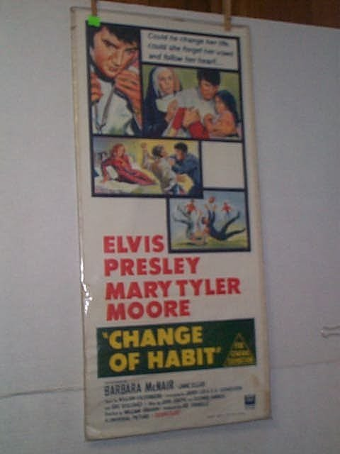 "22: Original movie poster. ""CHANGE OF HABIT."" ELVIS PRE"
