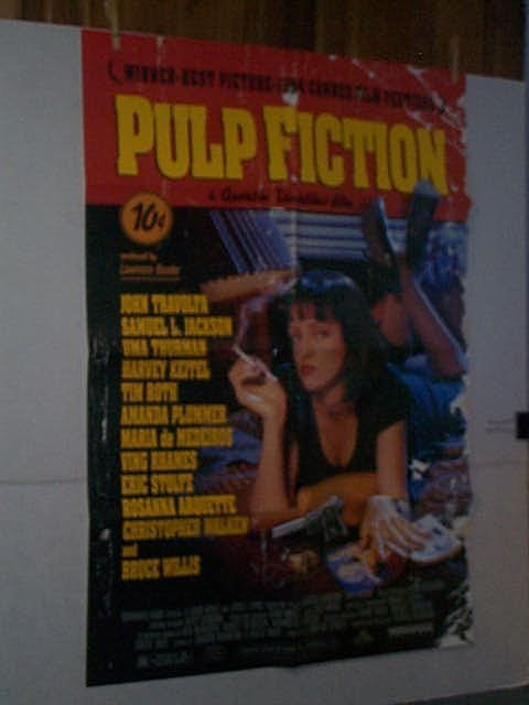 "268: Original movie poster. 1 Sheet.  ""PULP FICTION""."
